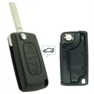 Neoriv Coque de clé télécommande adaptable + lame PSA307C