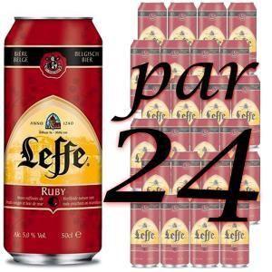 Leffe Ruby - Bière aromatisée aux fruits rouges (24 x 50 cl) 5°