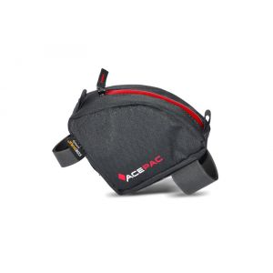 Acepac Tube Bag - Sac porte-bagages - gris/rouge Sacoches de selle