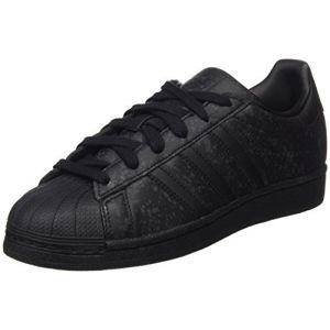 b07c5b0e7becc Adidas Superstar, Baskets Basses Femme, Noir (Core Black Core Black Footwear