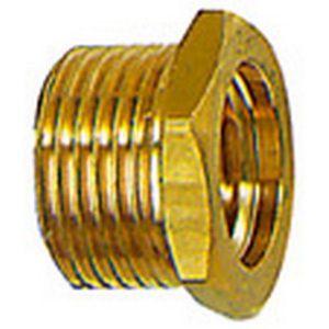 Riegler Fileté mále réducteur, court, Raccord : G 3/8 filetage mâle x G 1/8 filetage femelle pouces, OC 19 mm, Long. 13,0 mm