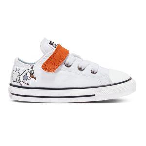 Converse Chaussures casual / Chuck Taylor All Star basses à scratch textile La Reine des neiges II Release Blanc - Taille 21