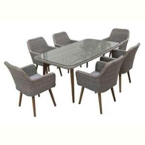 Delorm Design Cuba - Table de Jardin Aluminium et Résine Tressée
