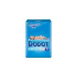 Dodot Couche taille 2 (3-6 kg) - paquet de 72
