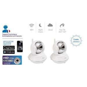Image de Bluestork Pack 2 caméras IP HD rotative Wifi
