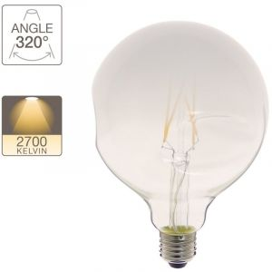 Xanlite Ampoule LED globe irrégulière verre lacté culot E27