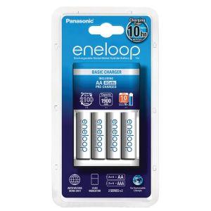 Panasonic Chargeur Eneloop Basic + 4 piles LR06-AA