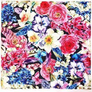 Allée du foulard Carré de soie Premium MiliFlor