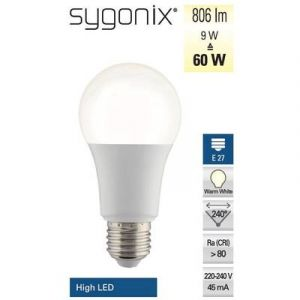 Sygonix Ampoule LED E27 6ZB-A806ST-Q1M forme standard 10 W = 60 W blanc chaud (Ø x L) 60 mm x 120 mm EEC: classe A+ avec