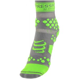 Compressport Chaussettes Proracing Socks V2 Trail Grey/green