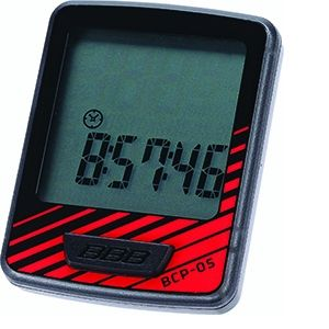 BBB cycling Compteur filaire DashBoard 7 fonctions Noir/Rouge BCP-05