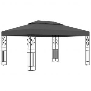 VidaXL Tonnelle avec double toit 3x4 m Anthracite