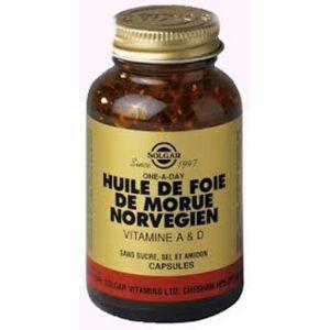 Solgar Huile de foie de morue norvégien - vitamines A et D - 250 gélules souples