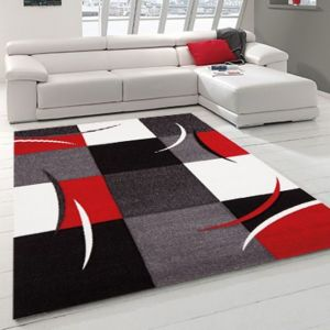 nazar diamond tapis de salon rouge 160x230cm 160x230 cm coloris rouge densit - Tapis De Salon Rouge