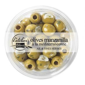 L'Atelier Blini Olives vertes à la méditerrannéenne