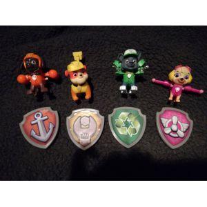Nickelodeon Pack de 3 Figurines Sac à Dos Transformable 1 - La Pat' Patrouille