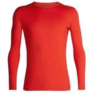 Icebreaker Mens 200 Oasis LS Crewe Chili Red Sous-vêtements techniques