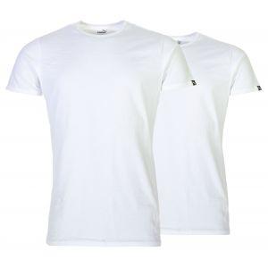 Puma T-shirt T Shirt Underwear Homme Basic 2p Crew Tee blanc - Taille EU S,EU M,EU L,EU XL