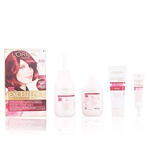 L'Oréal Excellence 6.66 Rouge Intense - Crème colorante triple protection