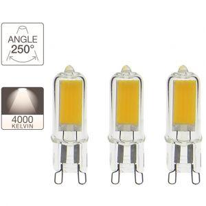 Xanlite Ampoule LED Capsule, culot G9, 2,6W cons. (20W eq.), lumière blanc neutre