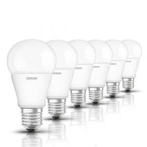 Osram LED STAR Ampoule LED, Forme Classique, Culot E27, 10W Equivalent 75W, 220-240V, dépolie, Blanc Froid 4000K, Lot de 6 pièces