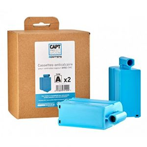 Domena 975100 - %u25E6 Pack de 2 cassettes anticalcaires type A Bleu