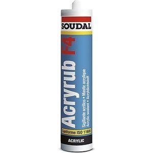 Soudal Acryrub F4 Mastic acrylite blanc - 120659