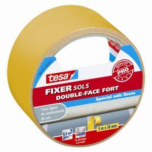 Tesa Adhésif double face pour sols FIXER extra-fort 50m