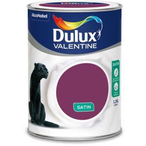 Dulux Valentine Peinture Crème De Couleur Satin Crème De Cassis 1,25 L