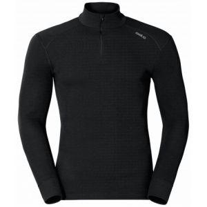Odlo Originals Warm T-Shirt chaud col zipp manches longues homme Noir Taille Fabricant : L