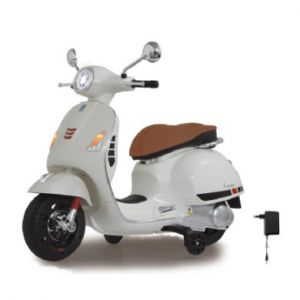 Jamara Trottinette électrique 6 V Ride-on Vespa blanc