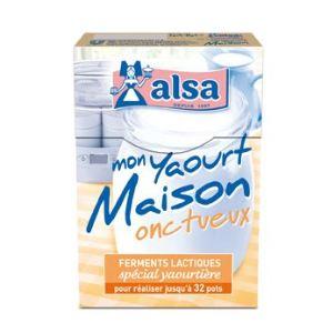 Alsa Ferments lactiques : Mon yaourt maison onctueux (spécial yaourtière)