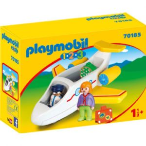 Playmobil 70185 - Avion avec pilote et vacancière 1.2.3