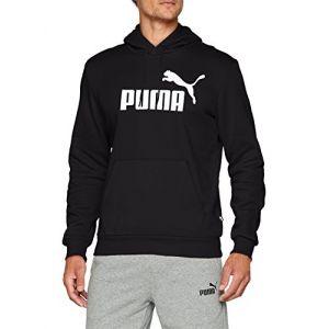 Puma ESS Hoody FL Big Logo Sweat-Shirts Homme, Black, FR : L (Taille Fabricant : L)