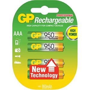 GP 4 piles NiMH rechargeables 1000 mAh AAA