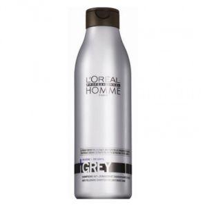 L'Oréal Grey - Shampooing anti-jaunissement cheveux blanc à gris pour homme