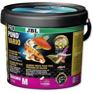 JBL Nourriture poissons De bassin, Mélange Flocons/Bâtonnets, Nourriture Spéciale, ProPond Vario 0,72 kg