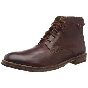 Clarks Clarkdale Bud, Bottes Bottines Classiques Homme, Marron (Mahogany Leather-), 46 EU