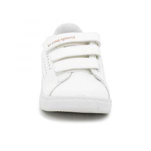 Le Coq Sportif Chaussures enfant Chaussure bébé fille Courtstar Inf Shiny blanc - Taille 22,23,26,27,24 / 25