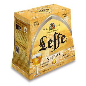 Leffe Bière blonde belge, arômatisée au miel - Les 6 bouteilles de 25cl