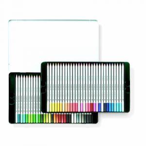 Staedtler Karat 125 M60 Crayons de couleur aquarellables Boîte métal de 60 pièces