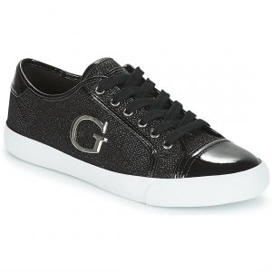 Guess Fllly1 Noir Lady - Chaussures Basses Toile - Noir - Taille 41