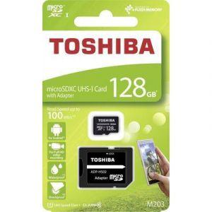 Toshiba Carte microSDXC M203 128 Go Class 10, UHS-I avec adaptateur SD