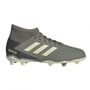Adidas Predator 19.3 FG J, Chaussures de Football bébé garçon, Vert Legacy Green/Sand/Solar Yellow, 37 1/3 EU