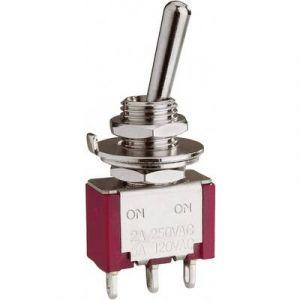 Eledis Interrupteur à levier 1 x On/(On) 1A12-NF1STSE 250 V/AC 2 A momentané 1 pc(s)