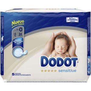 Dodot Sensitive Couches Pour Nouveau-Nés Taille 0- 3 Kg 24 Unités