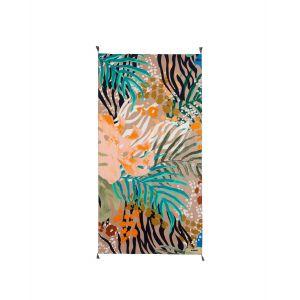 Desigual Foulard plissé Wild à imprimé tropvertical Naturel