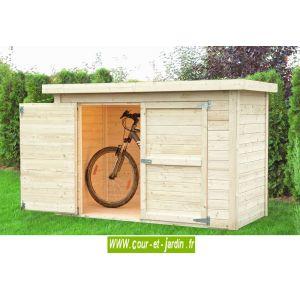 Baltic Cykel - Abri à vélos en bois massif 14 mm 2,02 m2