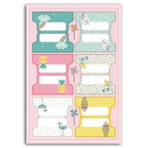 Toga Stickers Onglets - Happy Days - 24 pcs