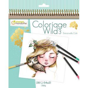 Avenue mandarine Carnet de coloriage collector Wild 3 - 28 visages à colorier
